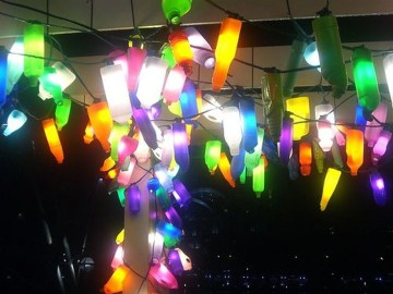 Recycled and Reuse Empty Plastic Bottles Into a String of Lights Ideas 29