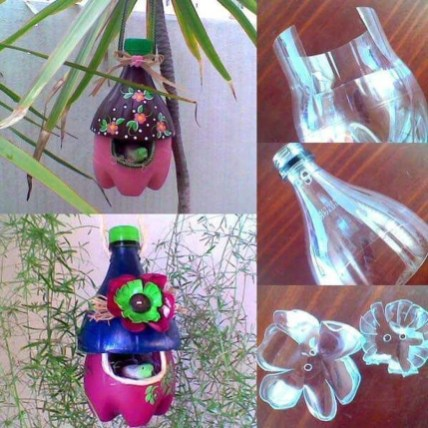 Ways to Reuse and Recycle Empty Plastic Bottles in Your Home Decoration 19