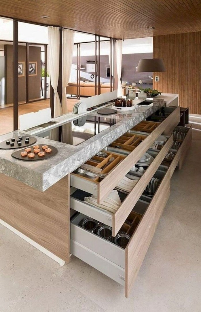 Awesome Kitchen Island Design Ideas with Modern Decor & Layout 41