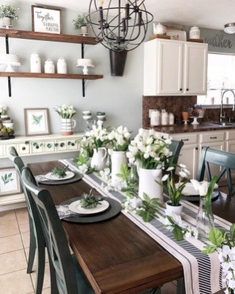 Cool Farmhouse Kitchen Decor Ideas On a Budget 08