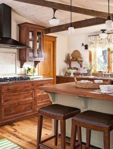 Cool Farmhouse Kitchen Decor Ideas On a Budget 21