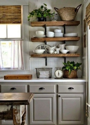 Cool Farmhouse Kitchen Decor Ideas On a Budget 23