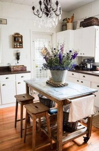 Cool Farmhouse Kitchen Decor Ideas On a Budget 38