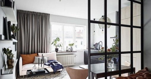 Cozy Room Divider for Small Apartments 30
