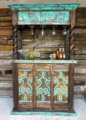DIY Bright Outdoor Bar Using Pallet 22