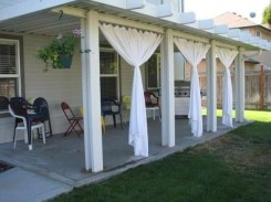 Outdoor Curtain Ideas to Spice Up Your Outdoor Space 40