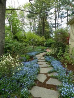 Stunning Garden Path and Walkways Design to Beautify Your Garden 66