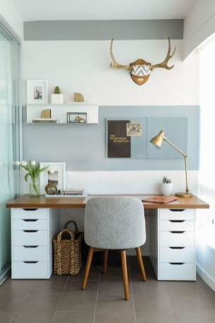 47 Interior Design 2019 for Decorating Your Comfortable Home Office 33