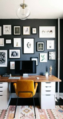 47 Interior Design 2019 for Decorating Your Comfortable Home Office 34