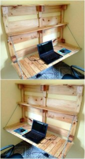 Amazing DIY Space-Saving Pallet Desk Ideas That You Must Try 21