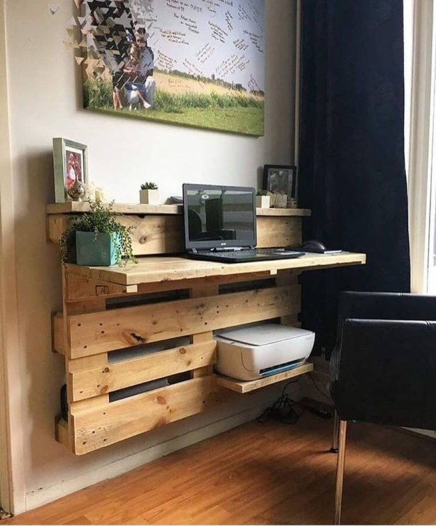 Amazing DIY Space-Saving Pallet Desk Ideas That You Must Try 24