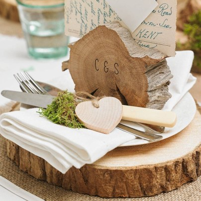 Beautiful Decorations for Your Wedding Decoration with Wooden Slices02