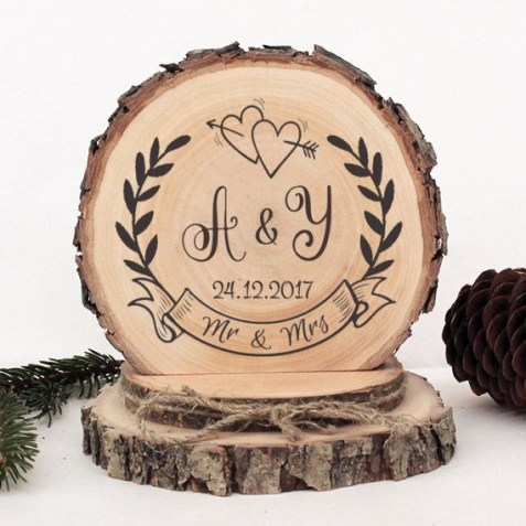 Beautiful Decorations for Your Wedding Decoration with Wooden Slices55