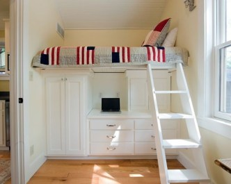 Bunk Beds with Wooden Wall Design 17