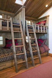 Bunk Beds with Wooden Wall Design 21