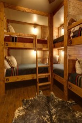 Bunk Beds with Wooden Wall Design 25