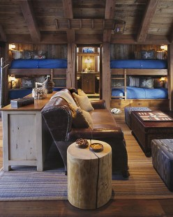 Bunk Beds with Wooden Wall Design 29
