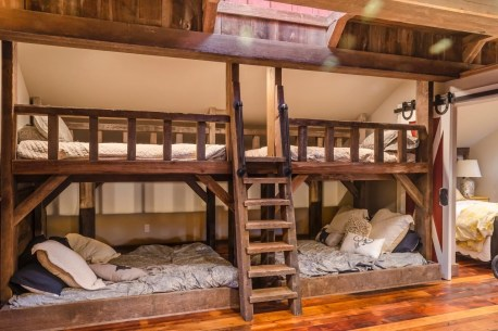 Bunk Beds with Wooden Wall Design 43