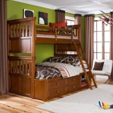 Bunk Beds with Wooden Wall Design 47