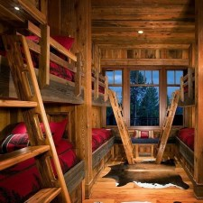 Bunk Beds with Wooden Wall Design 48