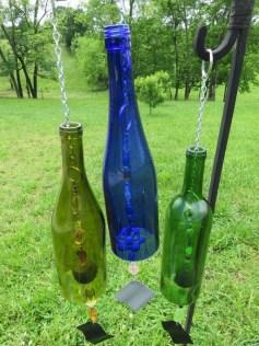 Charming Backyard Ideas Using an Empty Glass Bottle01