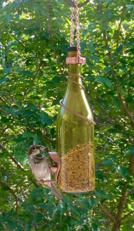 Charming Backyard Ideas Using an Empty Glass Bottle02