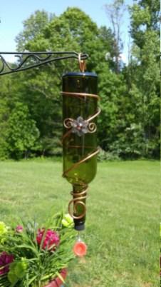 Charming Backyard Ideas Using an Empty Glass Bottle09