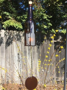 Charming Backyard Ideas Using an Empty Glass Bottle10