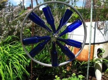 Charming Backyard Ideas Using an Empty Glass Bottle18
