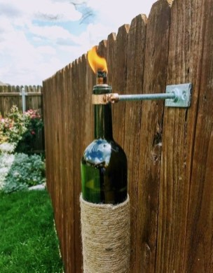 Charming Backyard Ideas Using an Empty Glass Bottle23