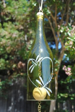 Charming Backyard Ideas Using an Empty Glass Bottle25