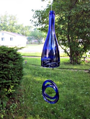 Charming Backyard Ideas Using an Empty Glass Bottle26