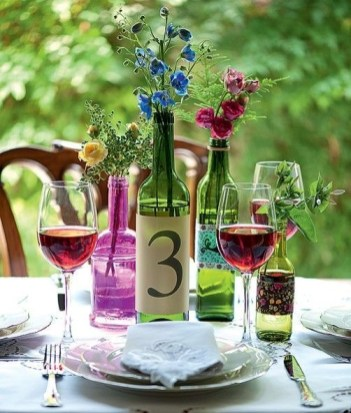 Charming Backyard Ideas Using an Empty Glass Bottle32