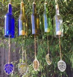 Charming Backyard Ideas Using an Empty Glass Bottle38