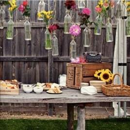 Charming Backyard Ideas Using an Empty Glass Bottle39