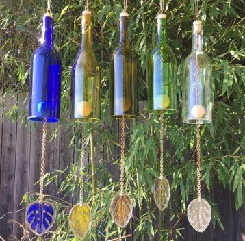 Charming Backyard Ideas Using an Empty Glass Bottle42