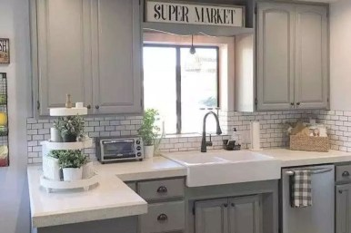 Cozy Kitchen Decorating with Farmhouse Sink Ideas 12
