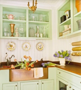 Cozy Kitchen Decorating with Farmhouse Sink Ideas 31