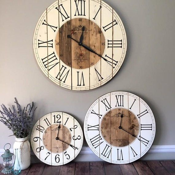 Gorgeous Wall Clock Decoration for Your Small Living Room18