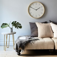 Gorgeous Wall Clock Decoration for Your Small Living Room34