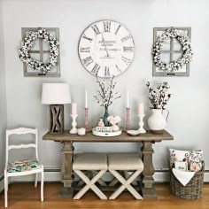 Gorgeous Wall Clock Decoration for Your Small Living Room36