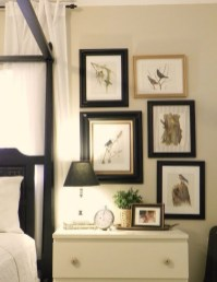 Simple And Memorable Photo Frame Decoration on Your Bedroom Wall 05