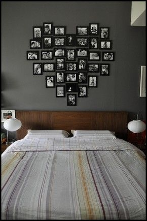 Simple And Memorable Photo Frame Decoration on Your Bedroom Wall 37