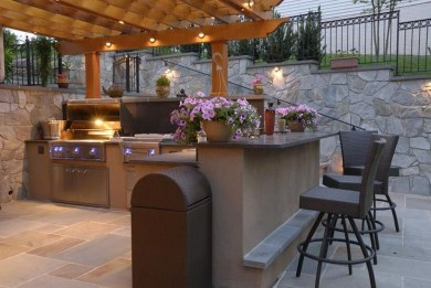Amazing Outdoor Kitchen Bars to Finish This Summer 32