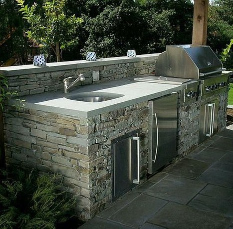Amazing Outdoor Kitchen Bars to Finish This Summer 39