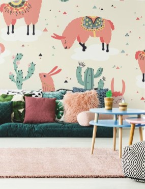 Best Wallpaper Decoration Designs to Enhance Your Family Room 46