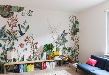 Best Wallpaper Decoration Designs to Enhance Your Family Room 50