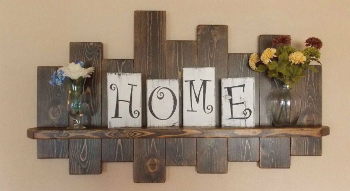 Cool Interior Design DIY Pallet to Beautify Wall Hangings of your Home 21