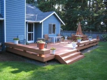 Easy DIY Wooden Deck Design For Backyard 02