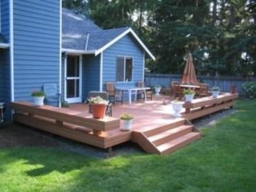 Easy DIY Wooden Deck Design For Backyard 02